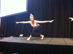 Emma Kelly demonstrating